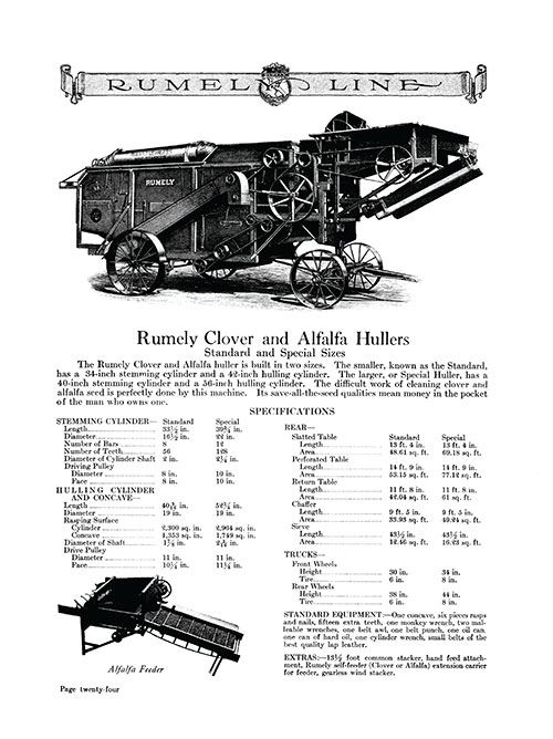 RUMELY LINE E-BOOK