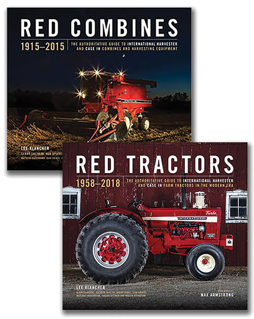 RED TRACTORS AND COMBINES BOOK GIFT SET