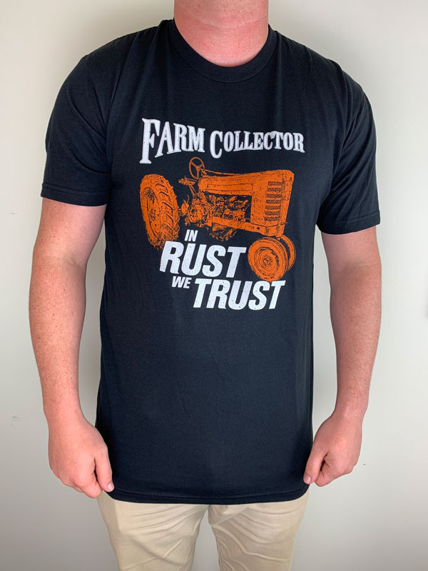 FARM COLLECTOR IN RUST WE TRUST T-SHIRT SMALL
